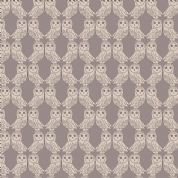 Lewis & Irene Enchanted Forest - 5099 - Cream Owls on Taupe  - A189.1 - Cotton Fabric